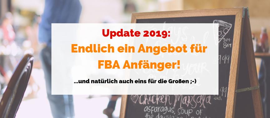 Update 2019: Endlich ein Angebot für FBA Anfänger! … und natürlich auch eins für die Großen ;-)